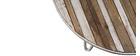 Mesa de centro redonda madera y metal blanco 80x45 ROCHELLE