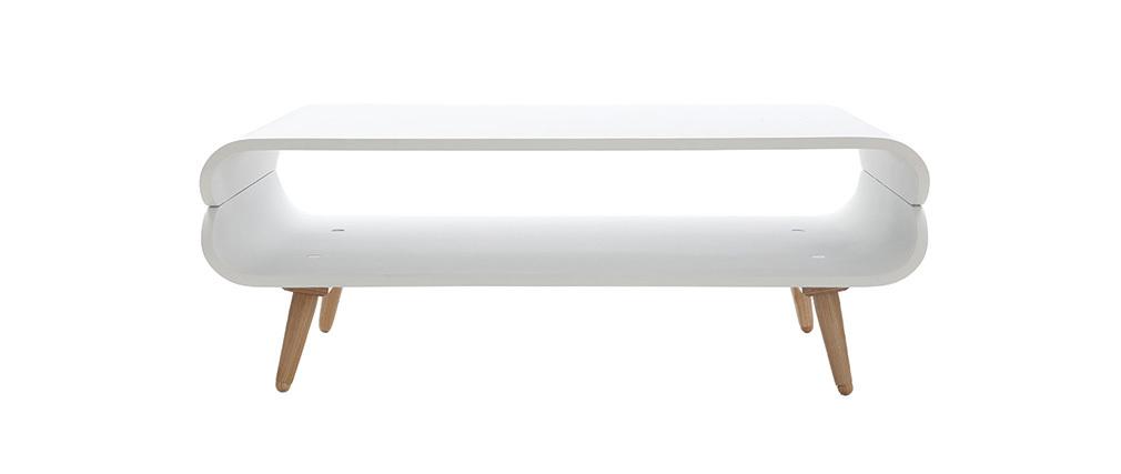 Mesa de centro vintage blanca TAKLA