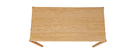 Mesa de comedor acabado roble L200 cm AGALI