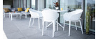 Mesa de comedor cuadrada moderna blanca interior / exterior OSKOL