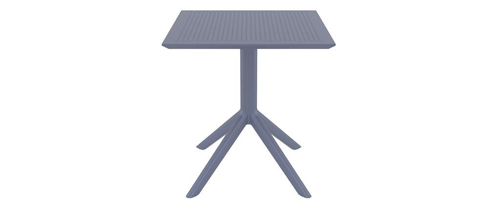 Mesa de comedor cuadrada moderna gris interior / exterior OSKOL