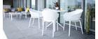 Mesa de comedor cuadrada moderna negra interior / exterior OSKOL