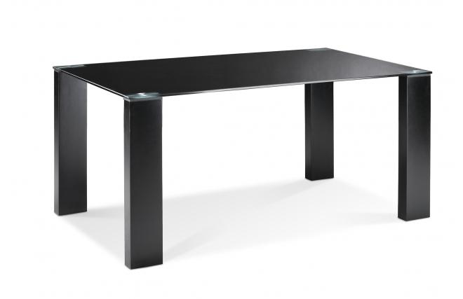 Mesa de comedor de dise o madera y cristal templado negro for Mesa comedor diseno cristal
