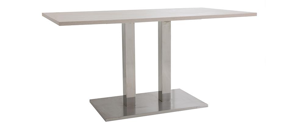 Mesa de comedor diseño 150x80 Madera clara FILIA