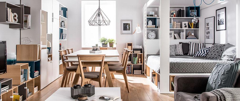 Mesa de comedor diseño con almacenaje 200cm WITTY