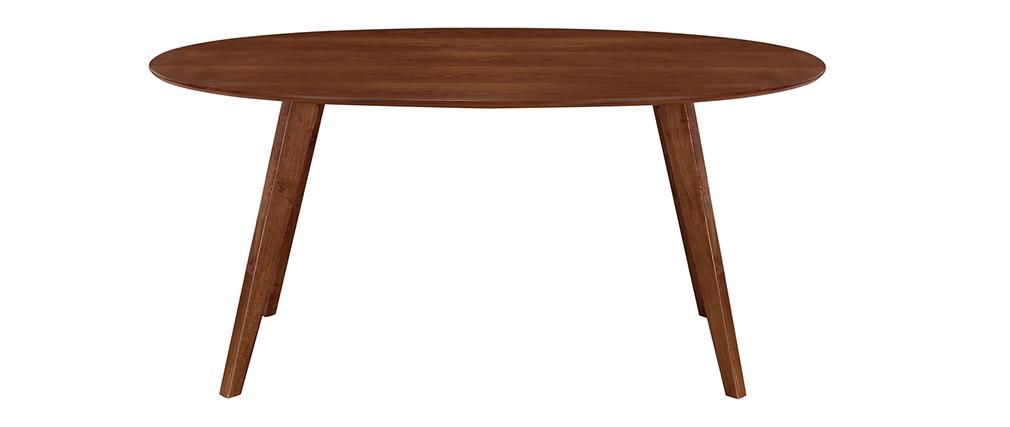 Mesa de comedor diseño escandinavo oval nogal L160 MARIK
