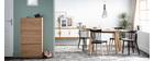 Mesa de comedor diseño escandinavo oval roble L160 MARIK