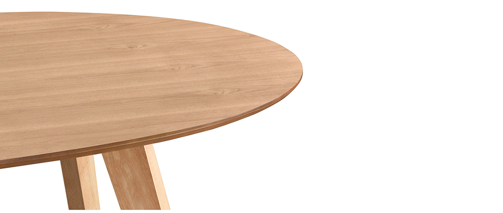 Mesa de comedor diseño escandinavo oval roble MARIK