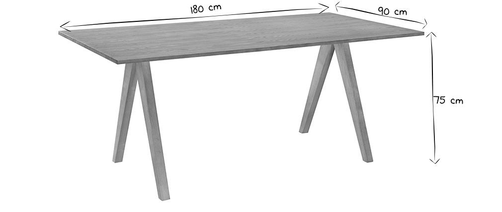 Mesa de comedor diseño escandinavo roble DANA