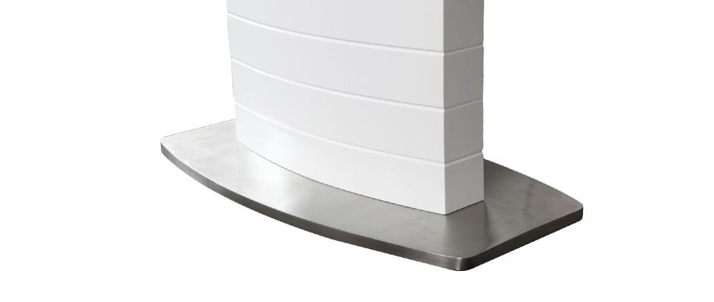 Mesa de comedor diseño extensible blanco brillante L160-200 ERESOS
