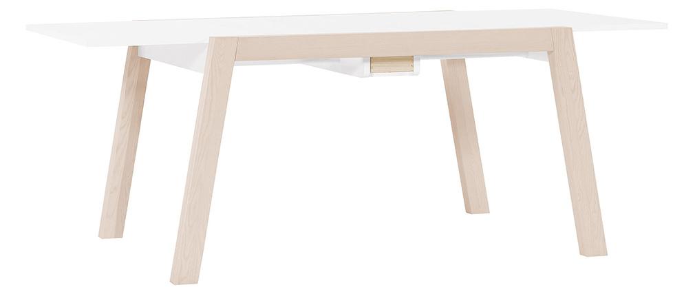 Mesa de comedor diseño extensible con almacenaje L150-200 EASY