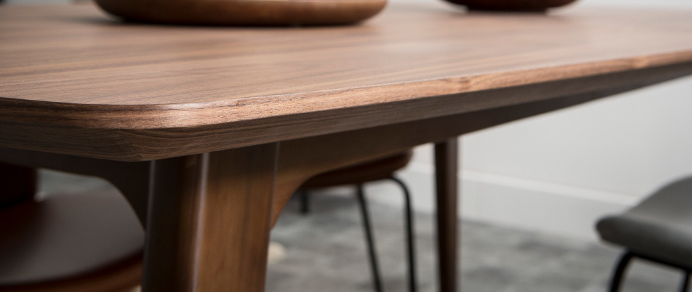 Mesa de comedor diseño extensible nogal L180-230 FIFTIES