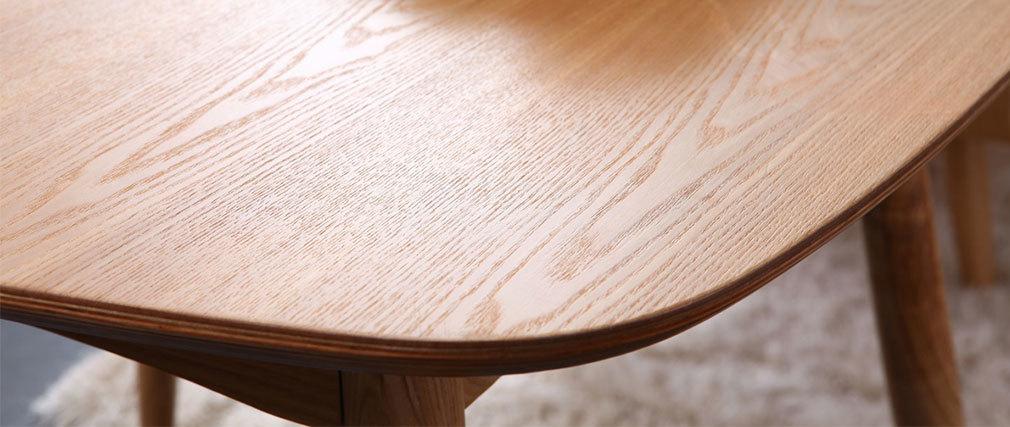 Mesa de comedor diseño fresno natural BALTIK