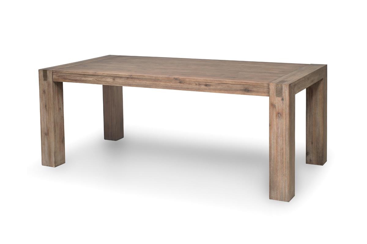 Mesa de comedor dise o madera maciza gris melbourne miliboo - Mesa de madera maciza ...