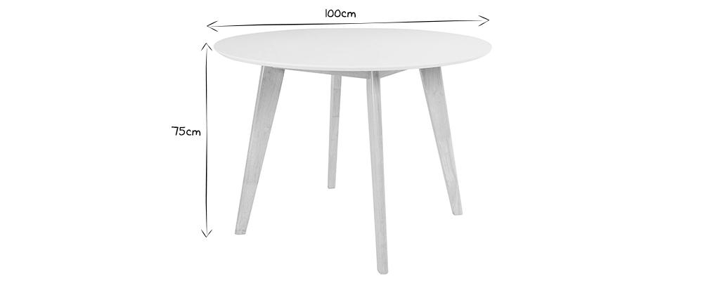 Mesa de comedor diseño redonda D100 LEENA