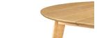 Mesa de comedor diseño redonda extensible roble L120-150 LEENA