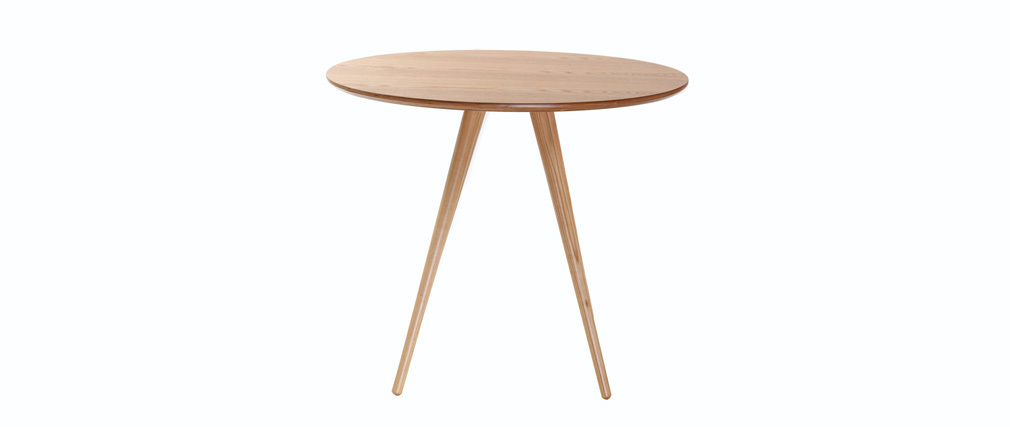 Mesa de comedor diseño redondo fresno ARTIK