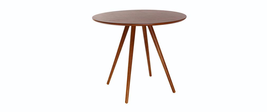 Mesa de comedor diseño redondo nogal ARTIK