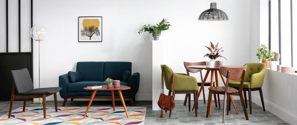 Mesa de comedor diseño redondo nogal D90 ARTIK