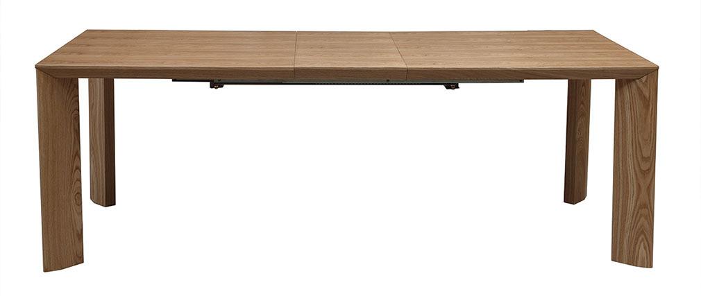 Mesa de comedor extensible diseño fresno LOUNA