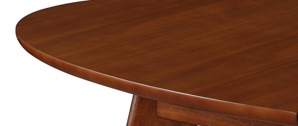 Mesa de comedor extensible diseño nogal L150-200 MARIK