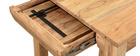 Mesa de comedor extensible en acacia maciza L80-135 cm BALTO