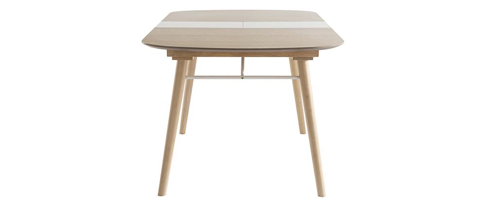 Mesa de comedor extensible en madera clara L150-180 cm SHELDON