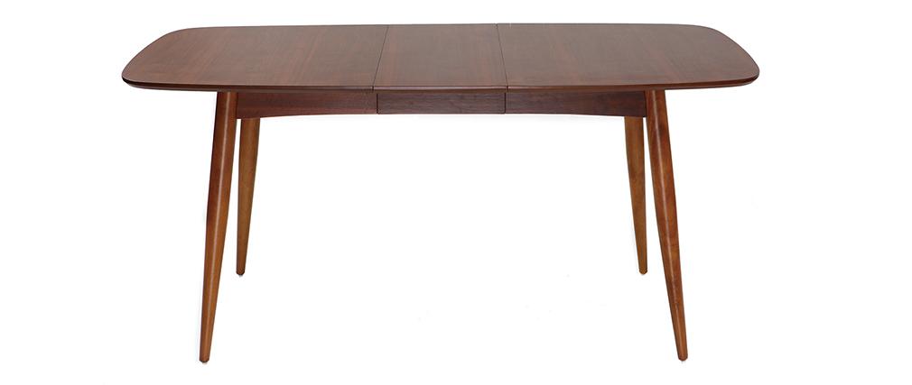 Mesa de comedor extensible en nogal natural L130-160 NORDECO