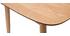 Mesa de comedor extensible fresno natural L90-130 cm NORDECO