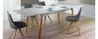 Mesa de comedor extensible lacado mate y madera L160-250 ADORNA