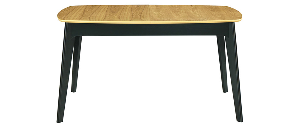Mesa de comedor extensible mader a ynegro L140-180 cm MEENA