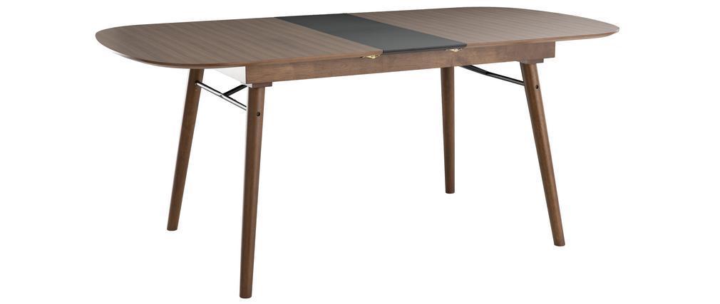 Mesa de comedor extensible nogal L150-180 cm SHELDON
