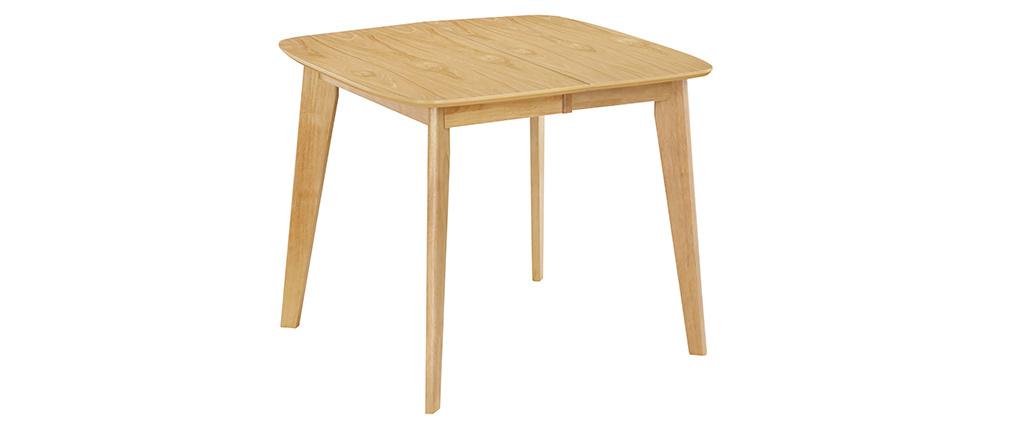 Mesa de comedor extensible nórdica en madera clara L90-130 LEENA