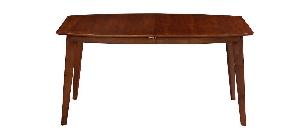 Mesa de comedor extensible nórdica nogal L150-200 LEENA