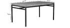 Mesa de comedor industrial 160x90cm mango bruto y metal YPSTER