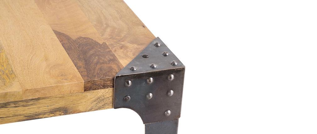 Mesa de comedor industrial acero y madera 160cm MADISON