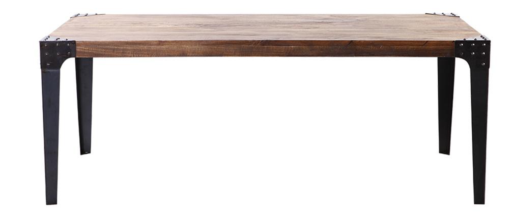 Mesa de comedor industrial acero y madera MADISON