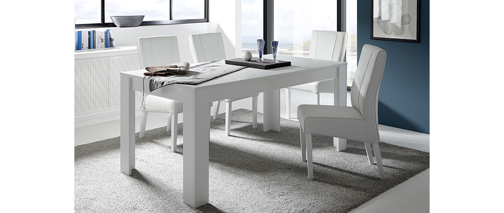 Mesa de comedor moderna blanca 180 cm LAND