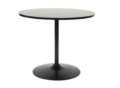 Mesa de comedor moderna redonda negra 90 cm CALISTA