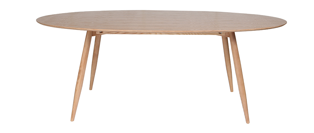 Mesa de comedor oval Table à manger ovale frêne naturel 200 cm BALTIK