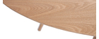 Mesa de comedor oval Table à manger ovale frêne naturel L200 BALTIK