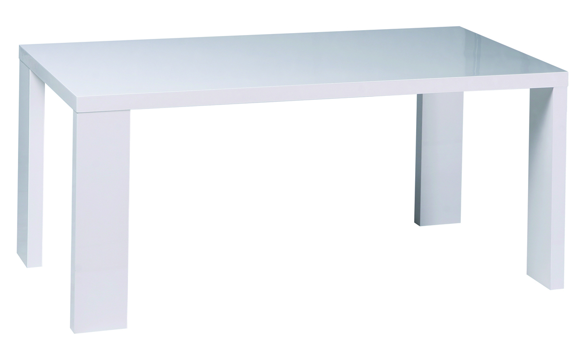 Mesa de comedor rectangular lacada color blanco new for Mesa comedor rectangular