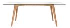 Mesa de comedor rectangular tablero cristal 200cm DAVOS