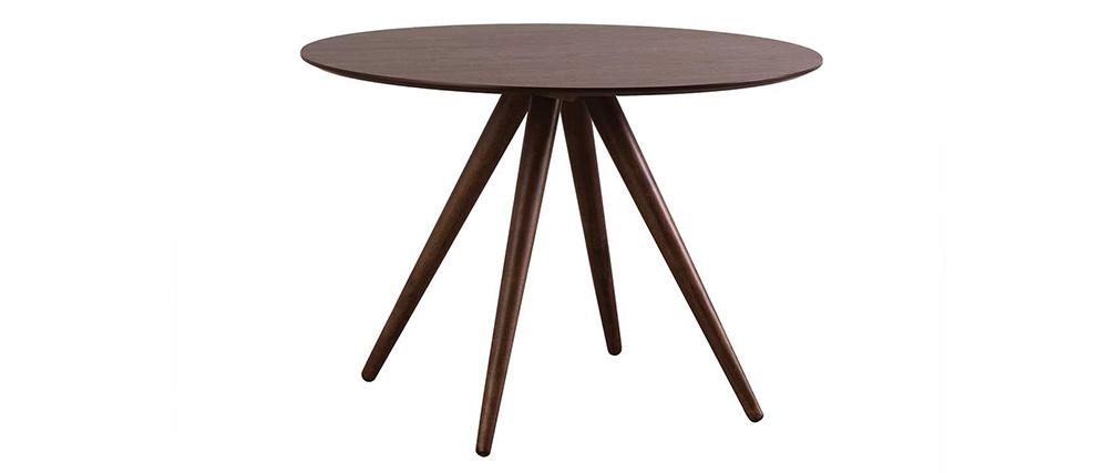 Mesa de comedor redonda diseño 106 cm nogal WALFORD