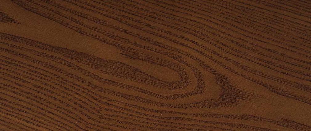 Mesa de comedor redonda diseño nogal D106 WALFORD