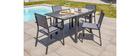 Mesa de jardín extensible gris antracita L90-180 cm PORTOFINO