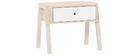 Mesa de noche diseño madera y blanco EASY