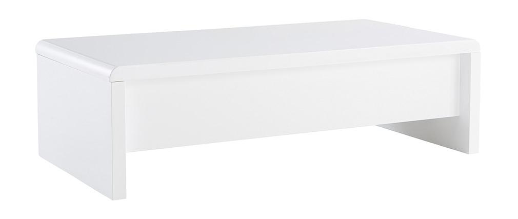 Mesa de salón de diseño lacada blanca LOLA