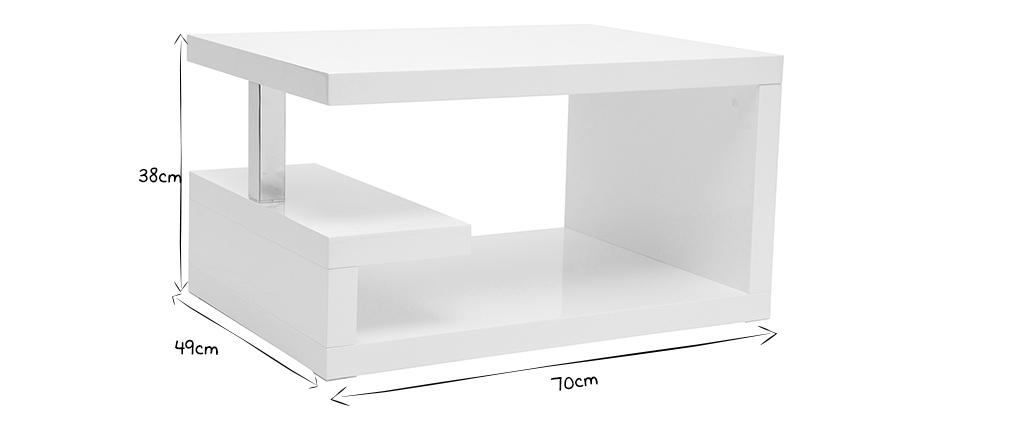 Mesa de salón diseño blanca REX