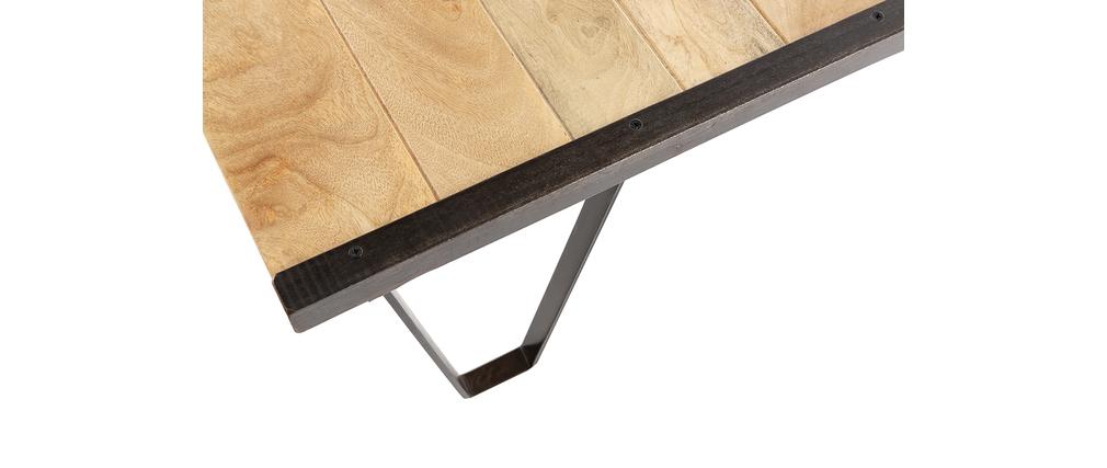 Mesa de salón estilo industrial de madera maciza INDUSTRIA